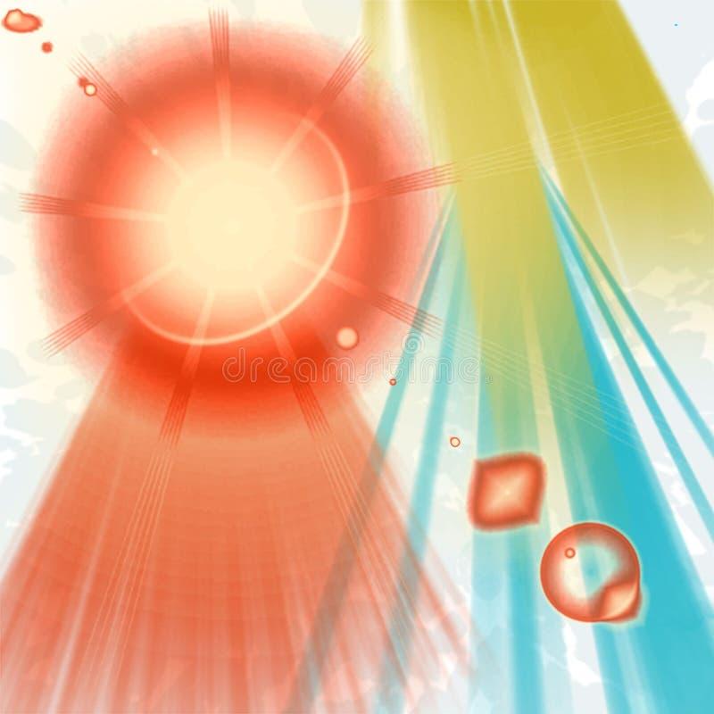 Bristning av solsken royaltyfri illustrationer