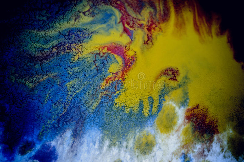 Bristningar av mångfärgad målarfärg arkivbilder