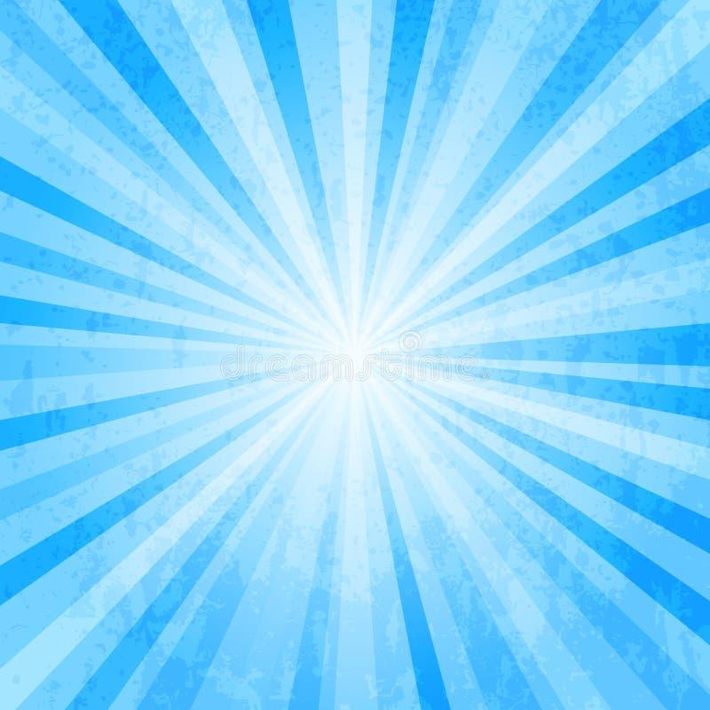 Bristningsbakgrund för blå stjärna vektor illustrationer