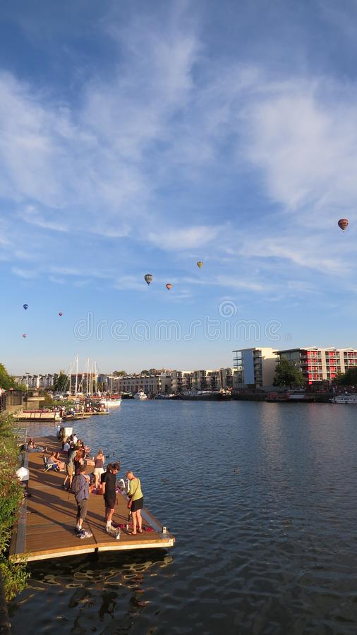 Bristol Balloons - Above the city stock photography