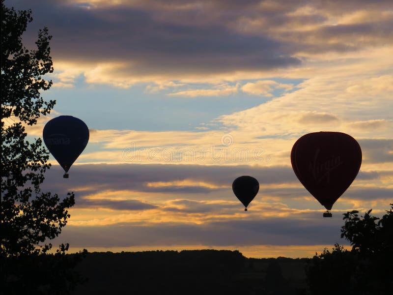 Bristol Balloons - crepúsculo fotos de stock