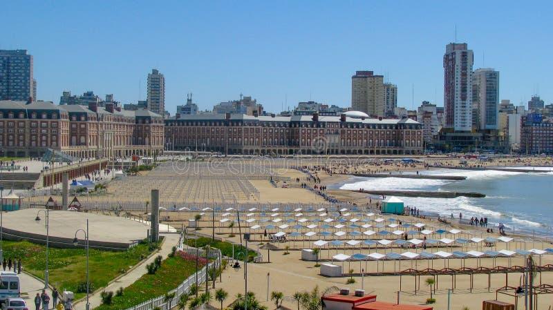 Bristol Beach, Mar del Plata, Buenos Aires. Argentina royalty free stock photography