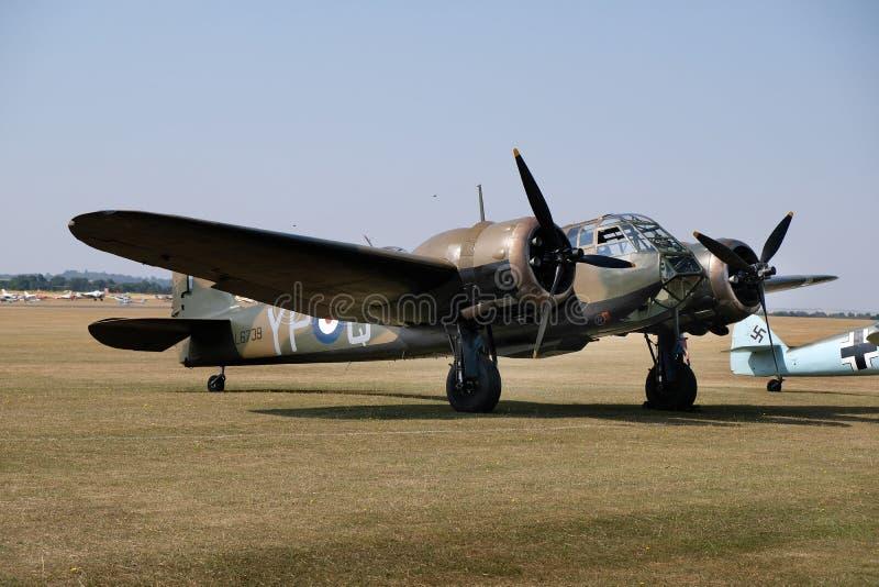 Bristol Blenheim mim Mk1 Bombardeiro claro britânico da segunda guerra mundial adiantada fotos de stock royalty free