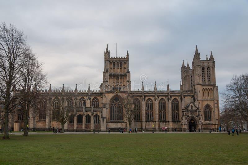 Bristol Cathedral del frente foto de archivo libre de regalías
