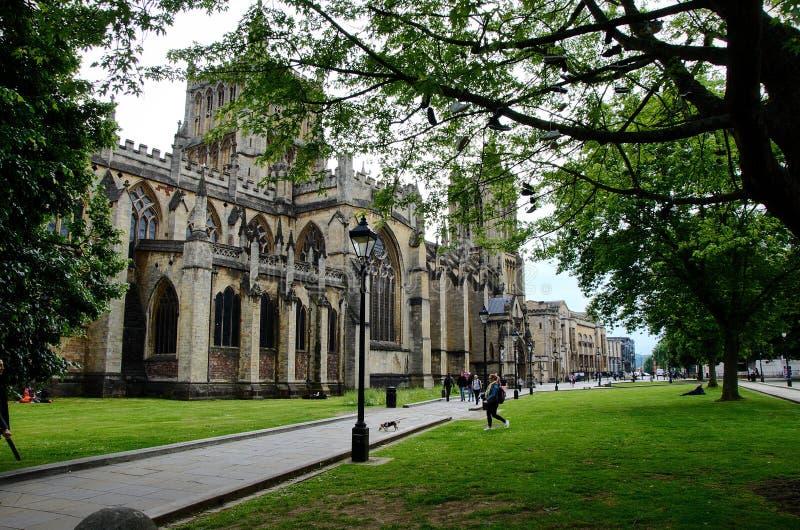 Bristol Cathedral nel Regno Unito fotografia stock libera da diritti