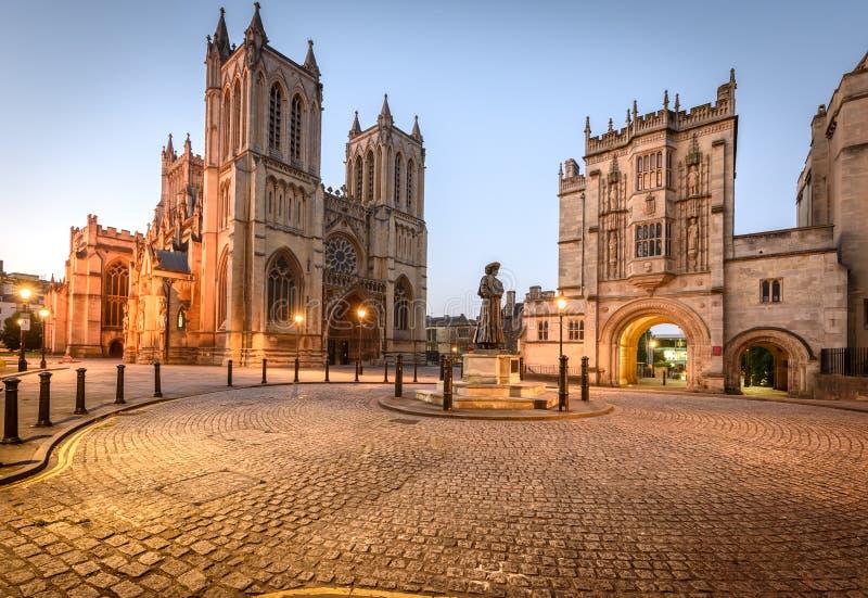 Bristol Cathedral UK royaltyfri fotografi