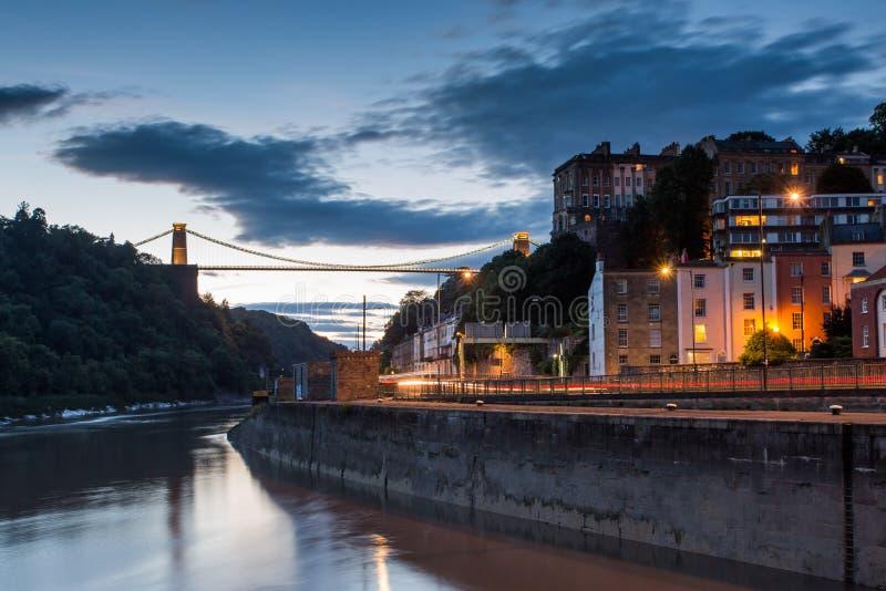 Bristol, Clifton Aufhebung Brige stockfotos