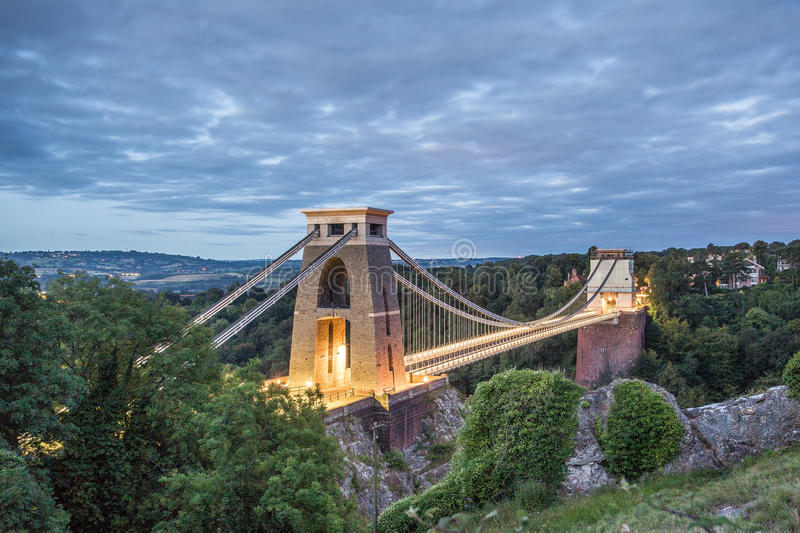 Bristol, Clifton Opschorting Brige royalty-vrije stock fotografie