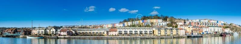 Bristol Docks Panoramic fotos de archivo libres de regalías