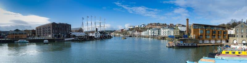 Bristol Docks Panoramic (SS Gran Bretaña) fotografía de archivo libre de regalías