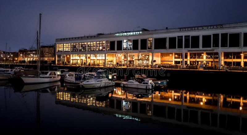 Bristol Docks (reflexiones) imágenes de archivo libres de regalías