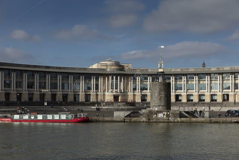 Bristol Förenade kungariket, Februari 21st 2019, Lloyds Bankhögkvarter som bygger i centrala Bristol arkivfoto