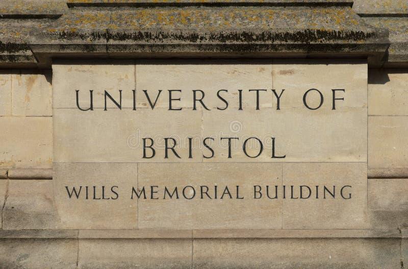 Bristol Förenade kungariket, 21st Februari 2019, Wills det minnes- byggande tornet på universitetet av Bristol arkivfoto