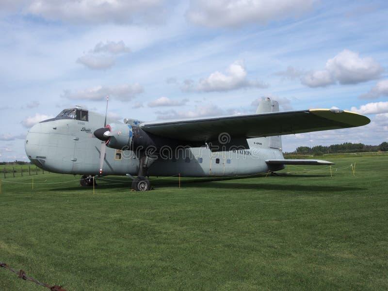 Bristol Freighter Twin-Engine Cargo Plane fotografia de stock royalty free