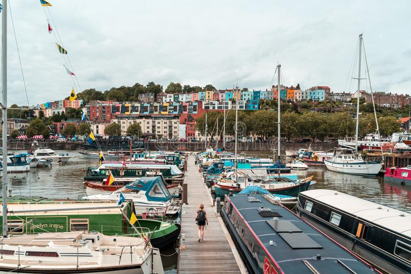 Bristol Harbour Festival i Bristol, Förenade kungariket, Europa royaltyfria foton