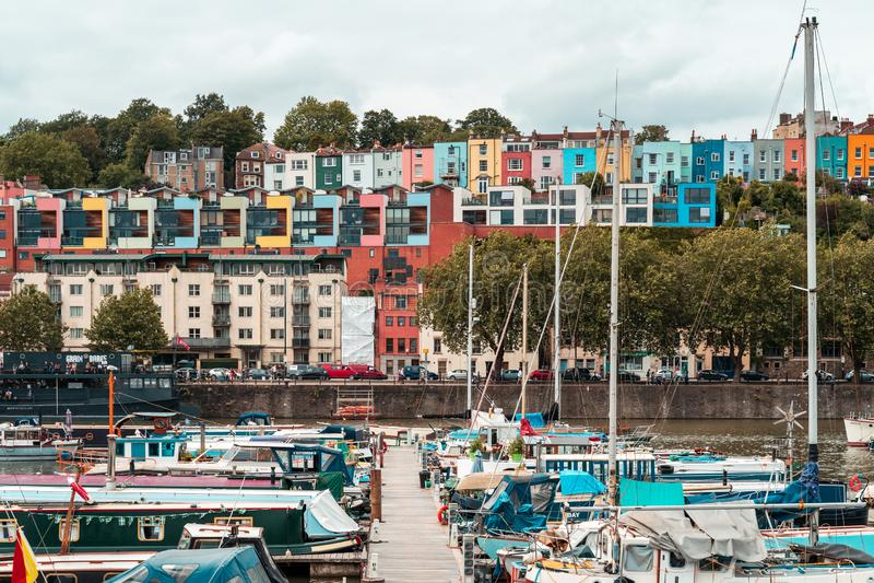Bristol Harbour Festival i Bristol, Förenade kungariket, Europa fotografering för bildbyråer