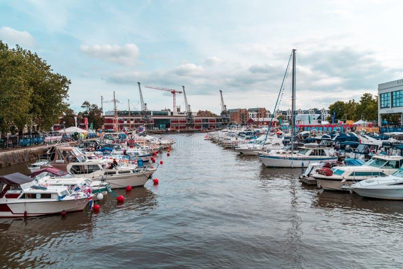 Bristol Harbour Festival i Bristol, Förenade kungariket, Europa arkivbilder
