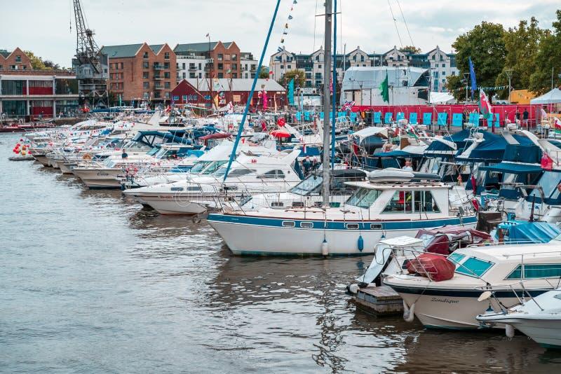 Bristol Harbour Festival i Bristol, Förenade kungariket, Europa royaltyfria bilder
