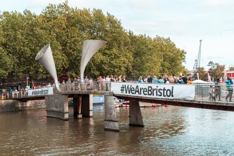 Bristol Harbour Festival i Bristol, Förenade kungariket, Europa arkivfoto