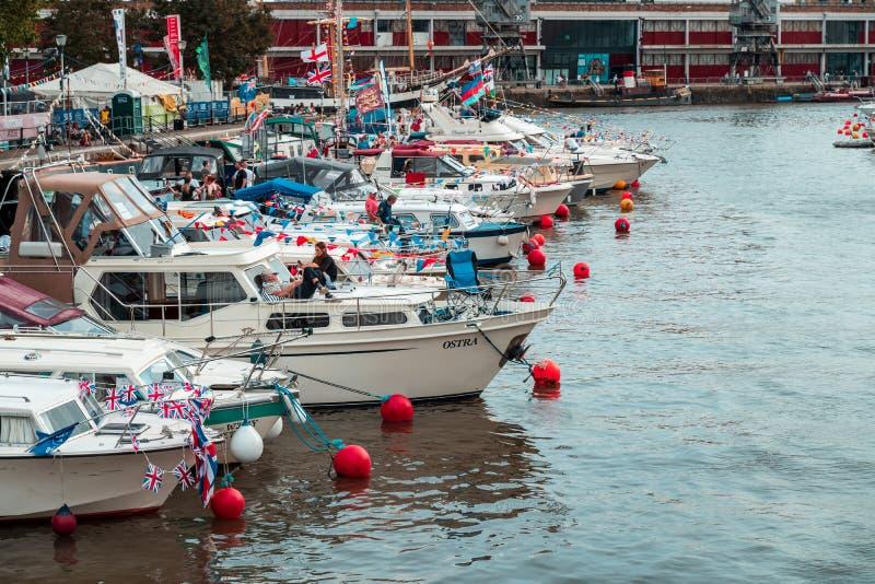 Bristol Harbour Festival in Bristol, United Kingdom, Europe. BRISTOL, ENGLAND - JULY 21, 2019: Bristol Harbour Festival in Bristol, United Kingdom Europe stock image