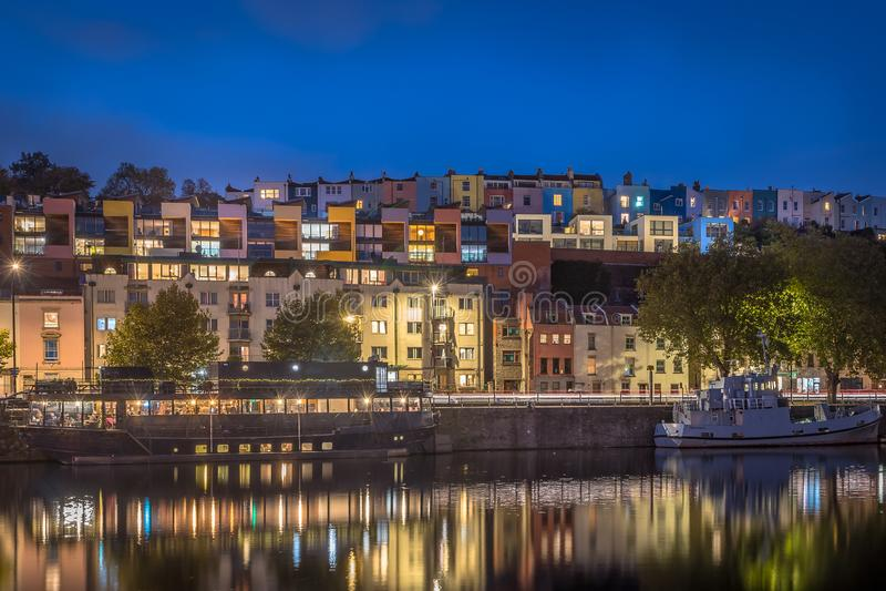 Bristol Harbour Long Exposure - venerdì sera fotografia stock