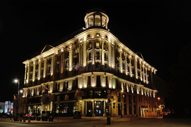 Bristol Hotel em Varsóvia (Polônia) imagem de stock