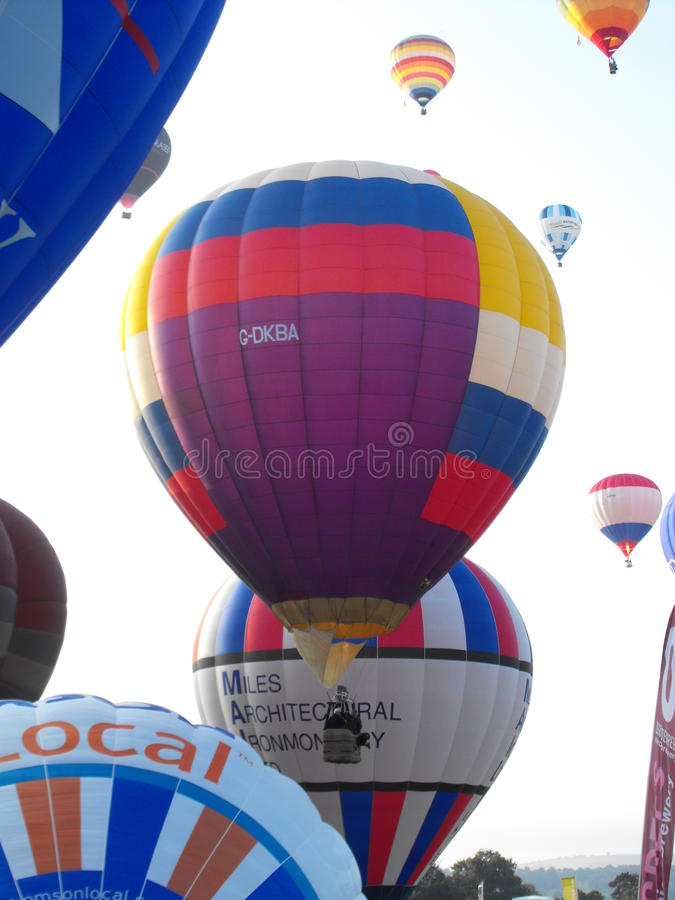 Bristol International Balloon Fiesta immagini stock