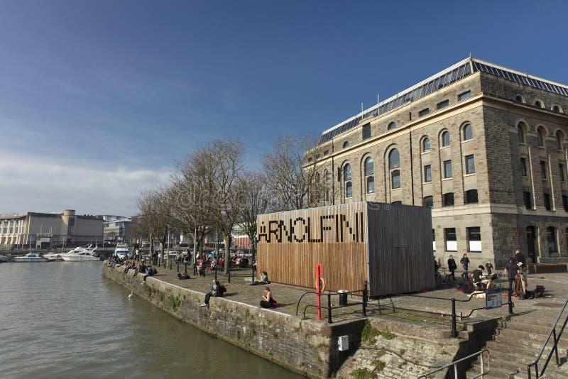 Bristol, Kingdrom unito, il 23 febbraio 2019, centro di Arnolfini per le arti contemporanee in Bristol immagine stock