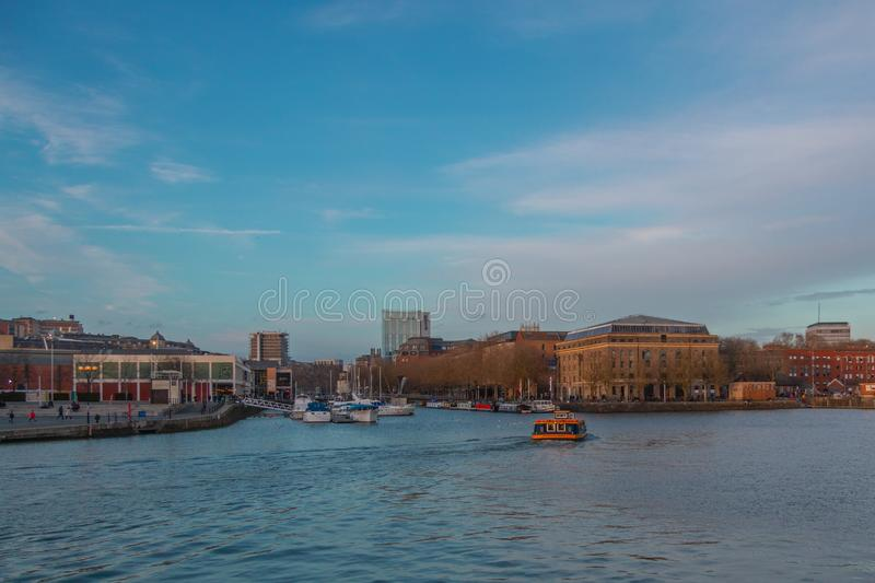 Bristol Marina on the river Avon royalty free stock images