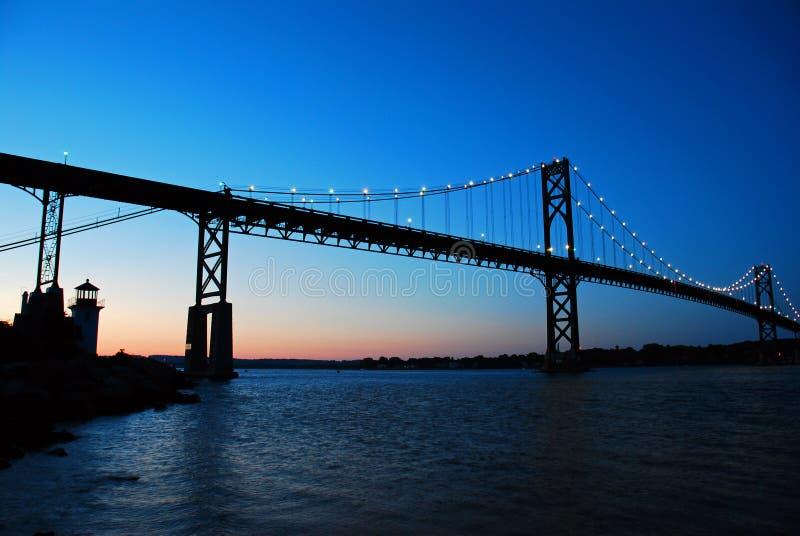 Bristol Mt Hope Bridge nel Rhode Island fotografia stock