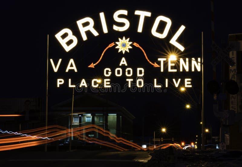 Bristol Neon Sign image libre de droits