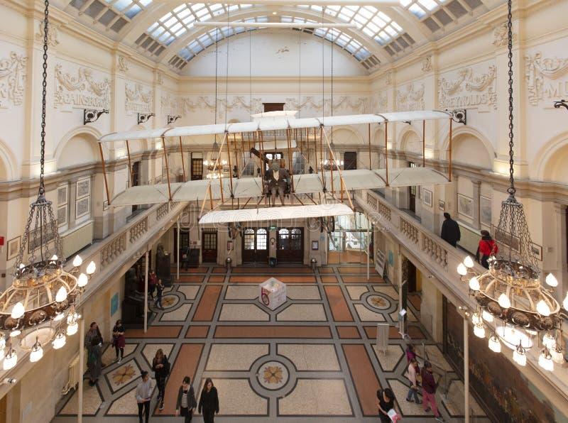 Bristol, Reino Unido, el 21 de febrero de 2019, Bristol Boxkite Aeroplane en el museo y la galería de la ciudad imagen de archivo libre de regalías