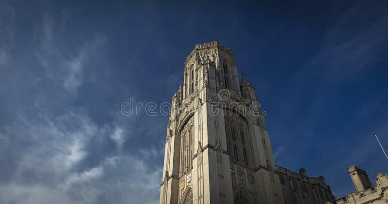 Bristol, Reino Unido, el 21 de febrero de 2019, quiere la torre constructiva conmemorativa en la universidad de Bristol fotos de archivo