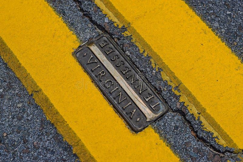 Bristol Road Stripes imagens de stock