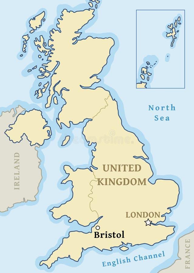 Bristol UK map stock illustration