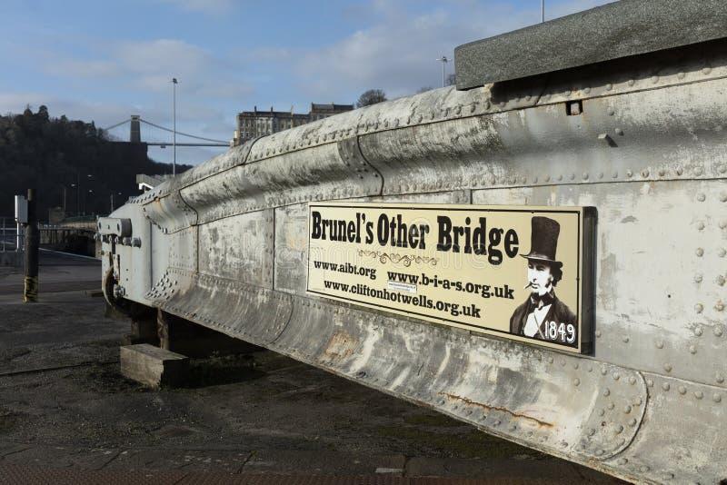 Bristol, UK, 23rd February 2019, the Isambard Kingdom Brunel swing bridge stock images