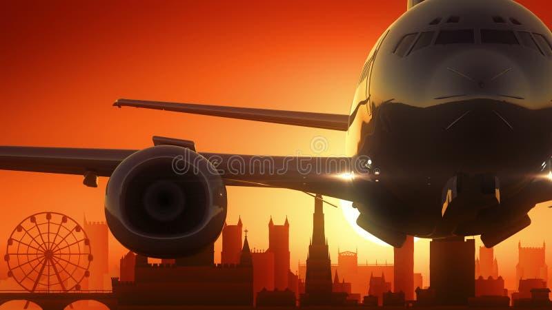 Bristol United Kingdom Skyline Sunrise décollent illustration de vecteur