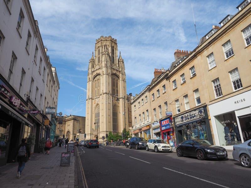 Bristol University Wills Memorial in Bristol. BRISTOL, UK - CIRCA SEPTEMBER 2016: The Wills Memorial Building part of the University of Bristol at the top of stock photos