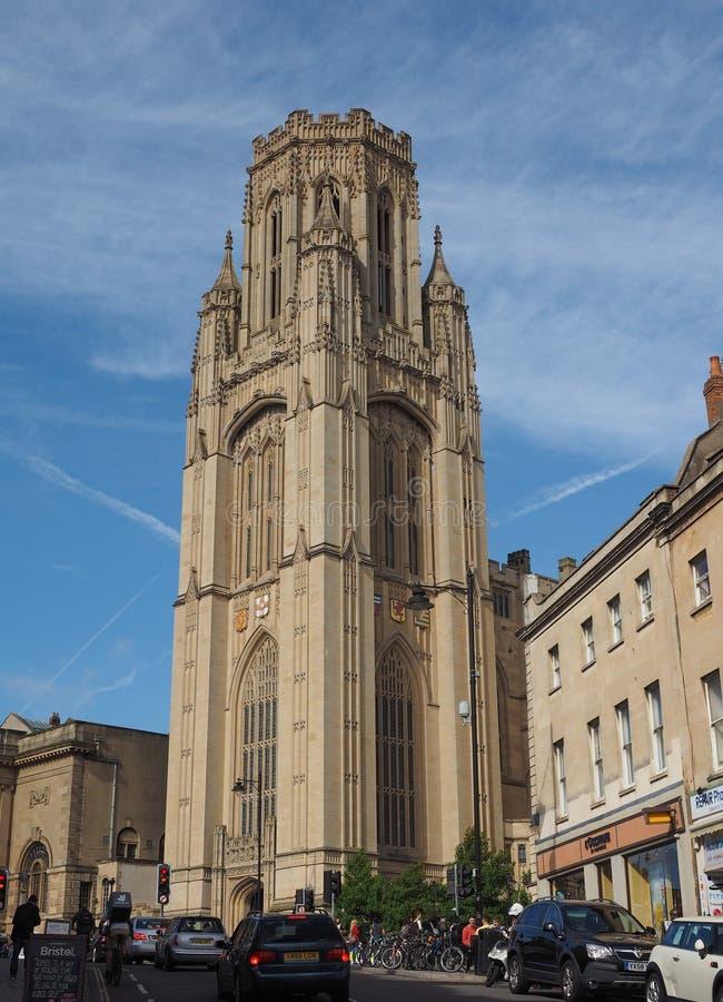 Bristol University Wills Memorial em Bristol imagem de stock