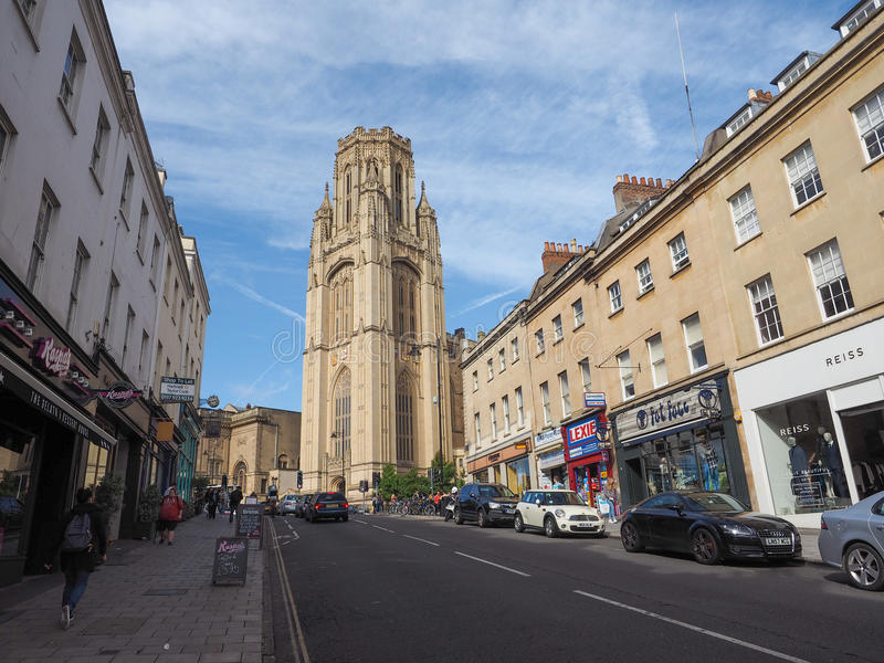 Bristol University Wills Memorial i Bristol arkivfoton