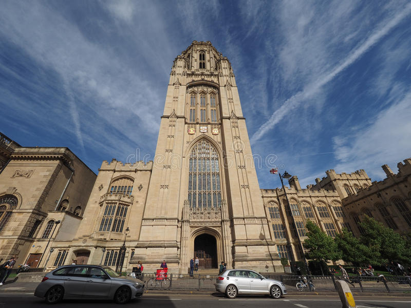 Bristol University Wills Memorial i Bristol royaltyfri bild