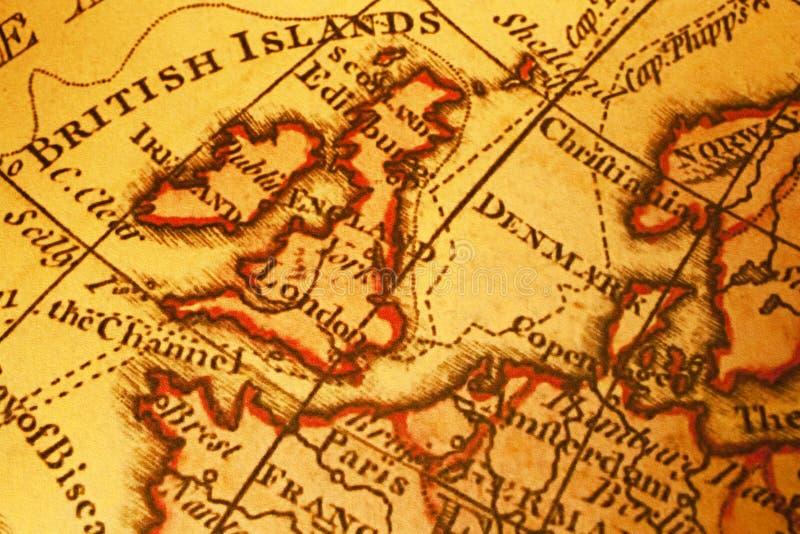 britain Europe mapy północny stary fotografia stock