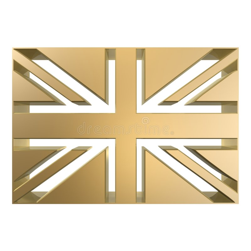 britain flagga stock illustrationer