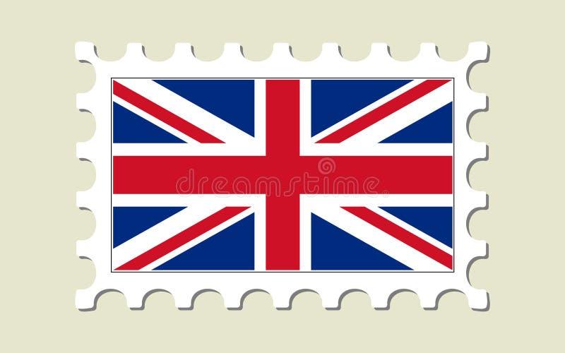 britain flaggastämpel stock illustrationer