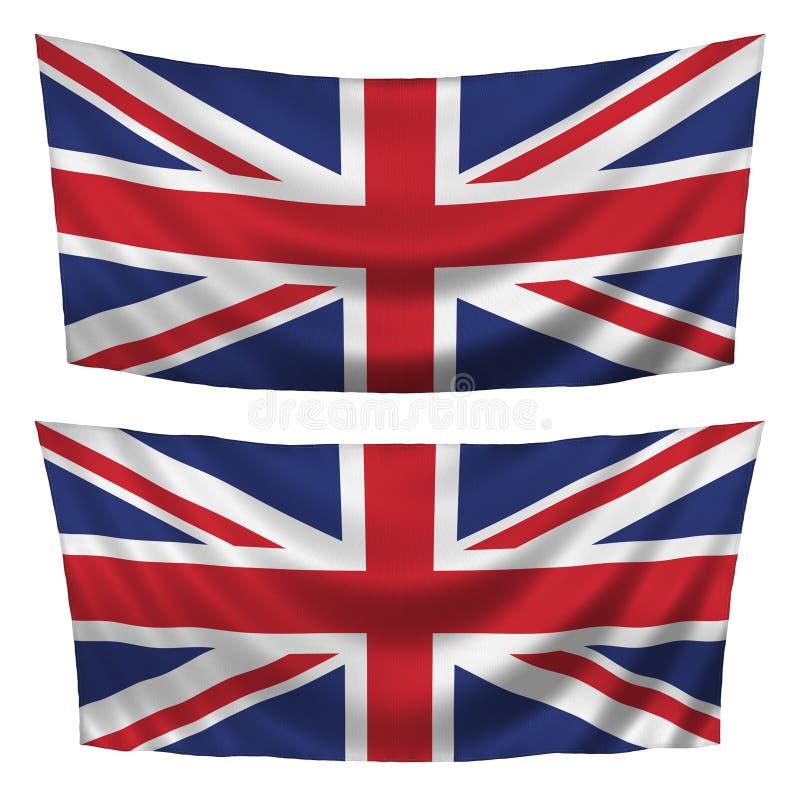 britain flags stort texturerat horisontal royaltyfri illustrationer