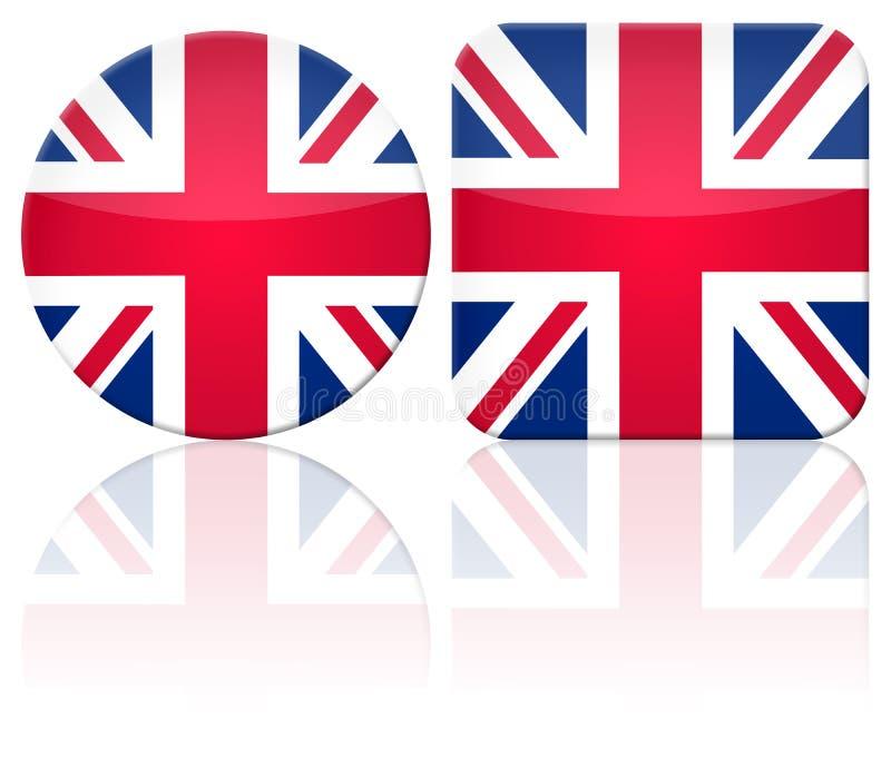 britain guzika flaga wielka royalty ilustracja