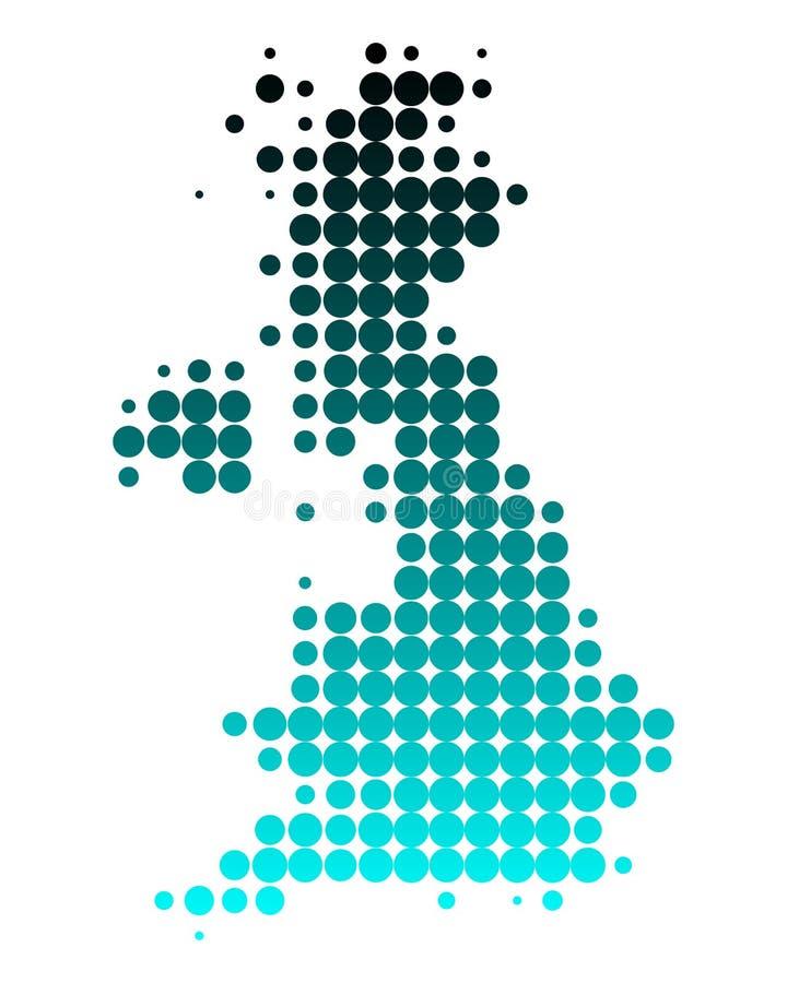 britain stor översikt stock illustrationer