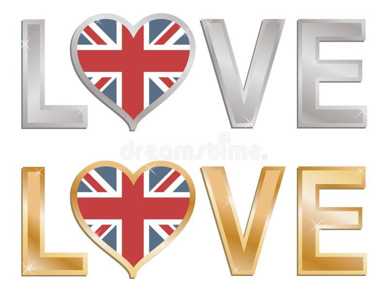 britain stor förälskelse royaltyfri illustrationer