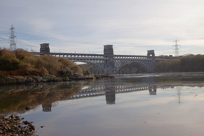 Download Britannia Bridge Reflection Stock Image - Image: 22111129