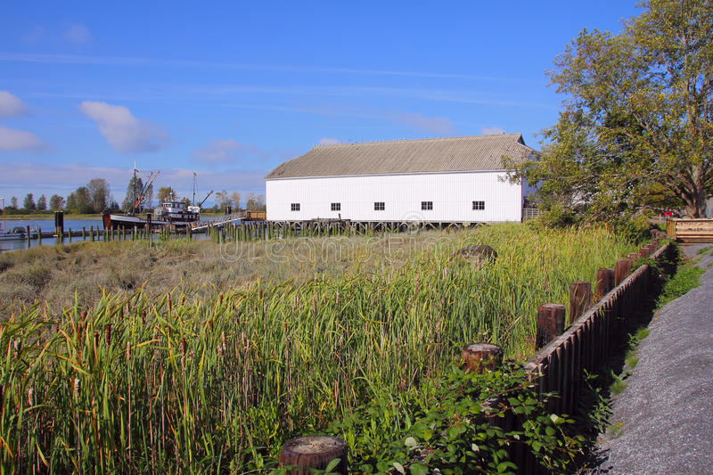 Britannia Heritage Shipyards. A preserved heritage site in Steveston, British Columbia, Canada that gives visitors insight into the early days of fishing on the stock photos